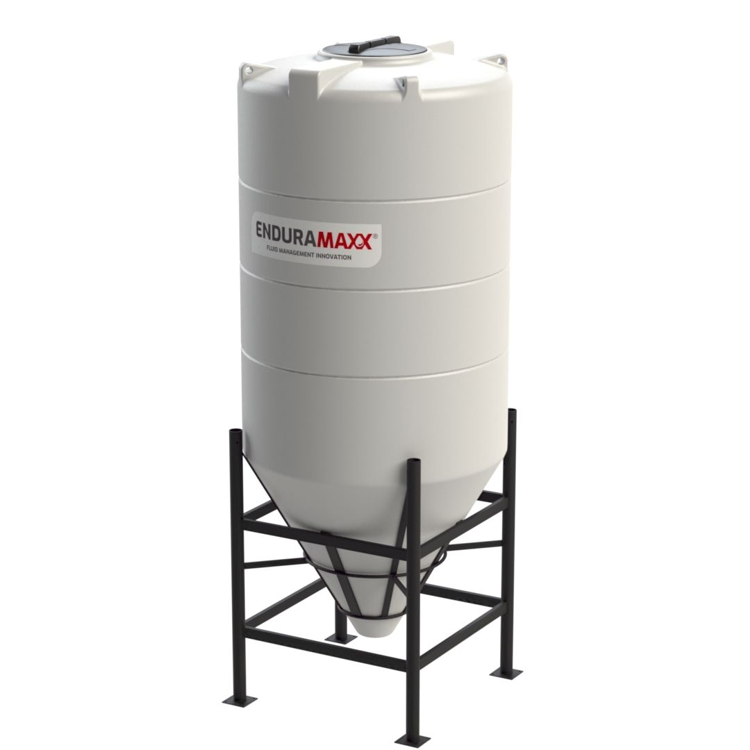 17520860-F 2350-Litre-Cone-Tank-With-Frame-Natural