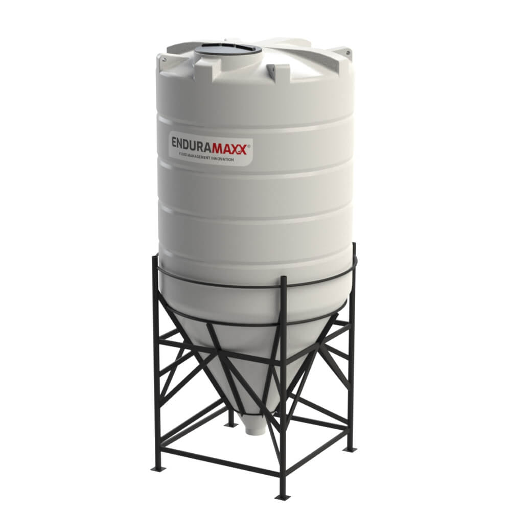1752166002-F-8000-Litre-Cone-Tank-With-Frame-Natural