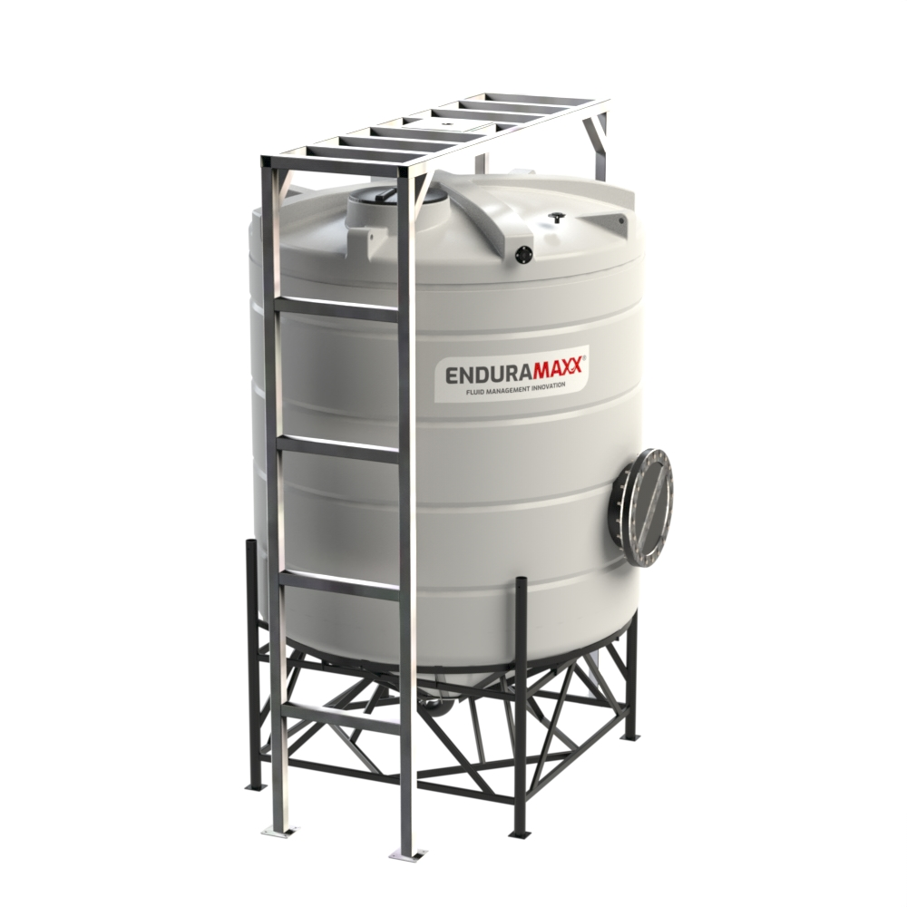 8000 Litre Cone Tank - With Mixer Frame