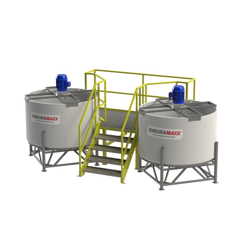 Enduramaxx Open Top Cone Tank Mixer Access Ladder Mezzanines