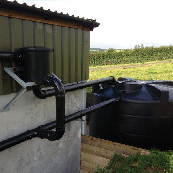 Rainwater Harvesting Kit B installed