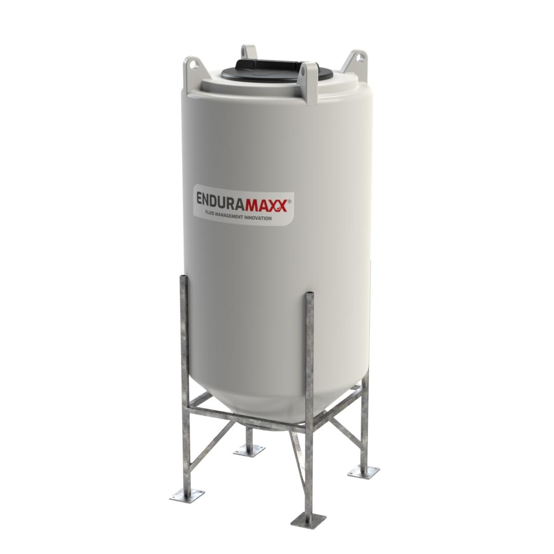 250 Litre 45 degree Polyvinylidene Fluoride Cone Tank PVDF
