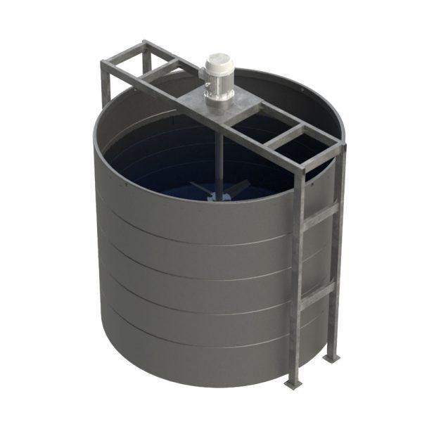 2,600 Litre Open Top Mixer Tank
