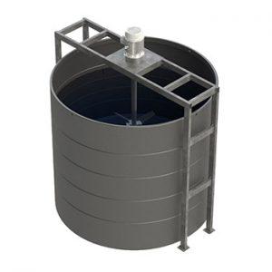 Floor Mounted Mixer Support - Vertical Tanks