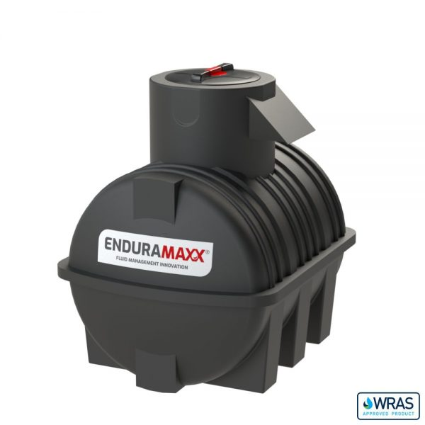 1,000 litre Fluid Category 5 Horizontal Potable Water Tank with Weir - Black