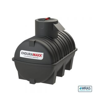 1,500 litre Fluid Category 5 Horizontal Potable Water Tank with Weir - Black