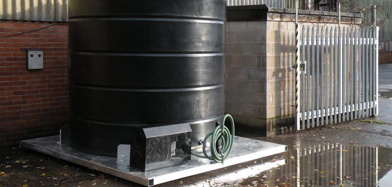 Bespoke base frame with vertical water tank