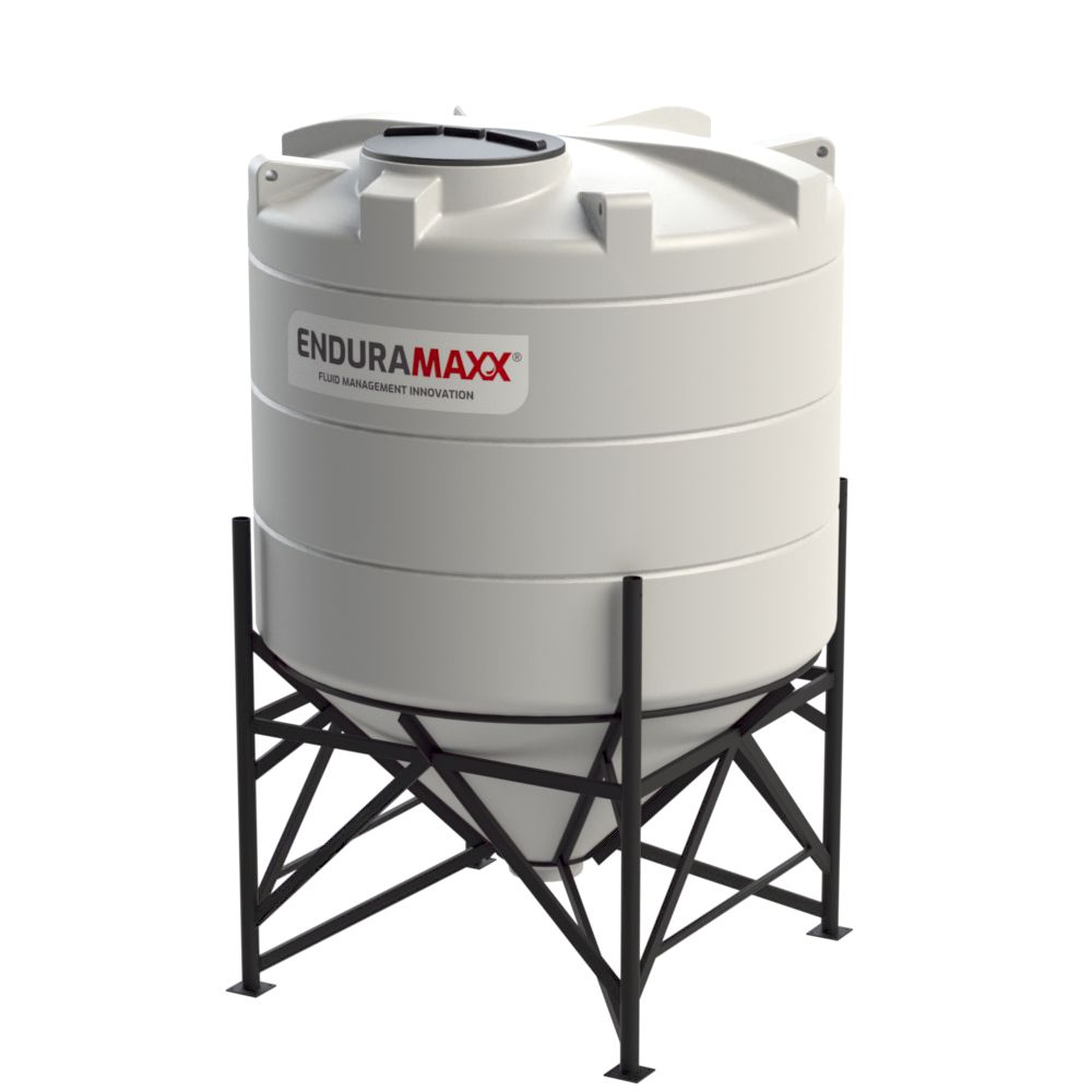1752124502-F 4900 Litre Cone Tank With Frame - Natural