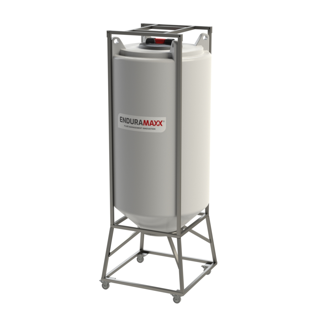 Enduramaxx 250 Litre Conical Mixer Tank With Agitator - Natural
