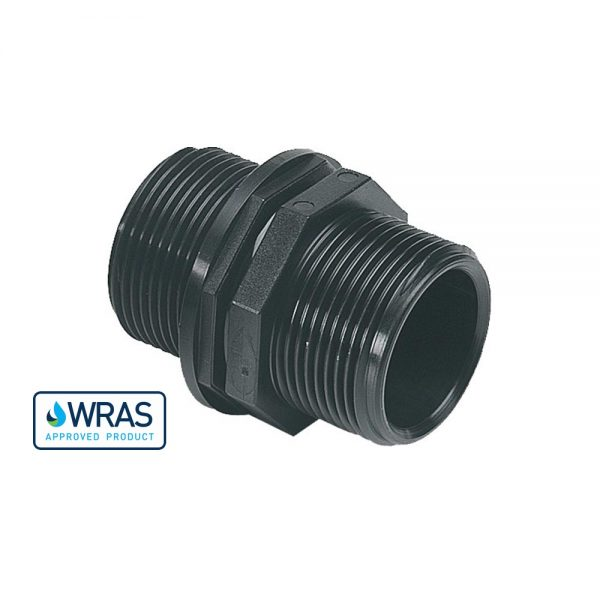 """178812-WR - 1.25"""" M/M Nipple – WRAS Approved"""