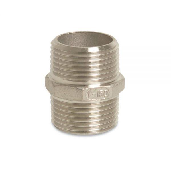 "178840-SS 4"" M/M BSP Threaded Nipple - Stainless Steel"