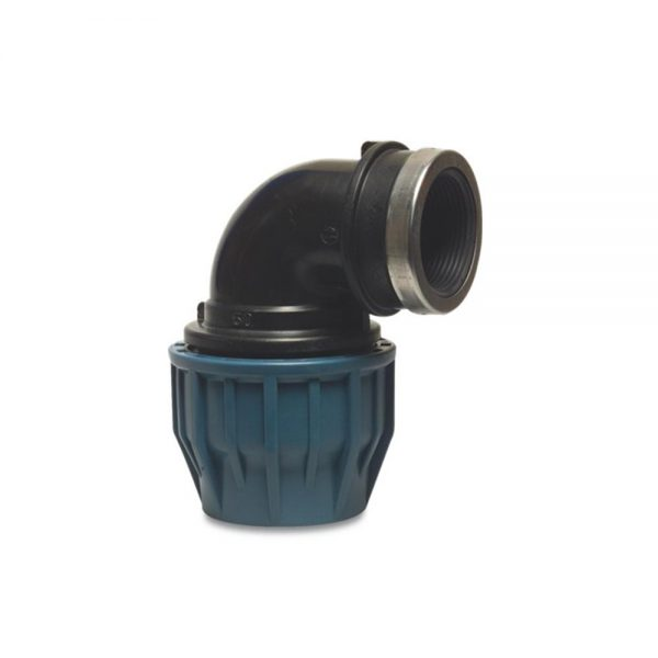 "19272510 25mm Adaptor x 1"" F. BSP Elbow Compression Fitting"