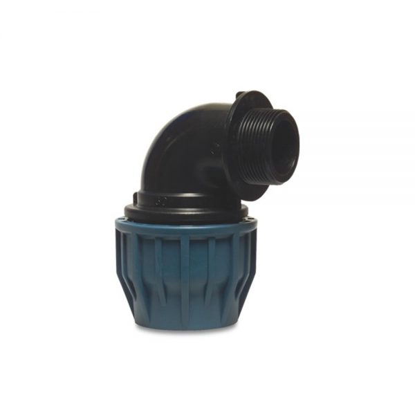 19285020 50mm Adaptor x 2 Inch M. BSP Elbow Compression Fitting