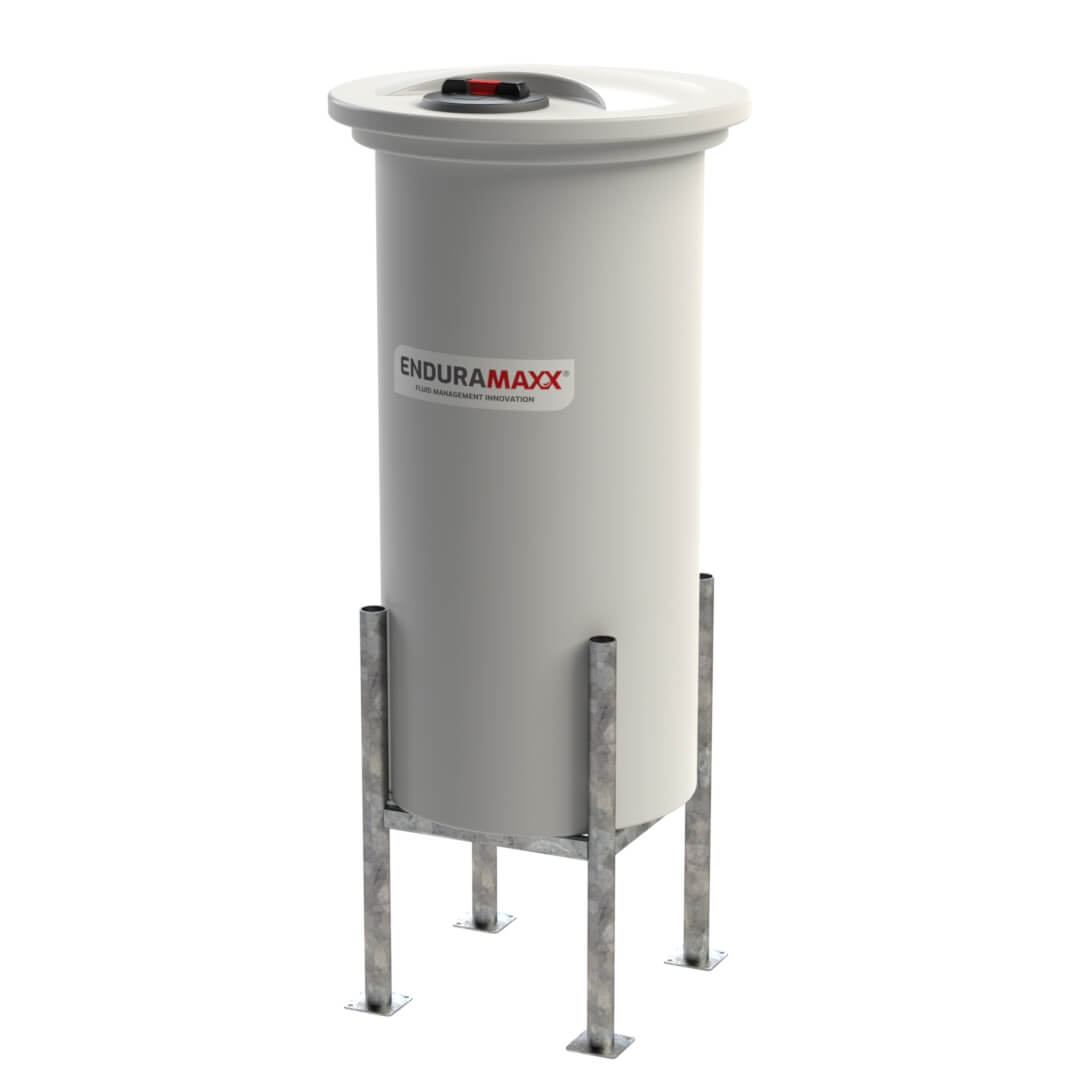 Enduramaxx-172805-500-Litre-Cone-Batch-Tank-Removable-Lid-With-Frame-Natural
