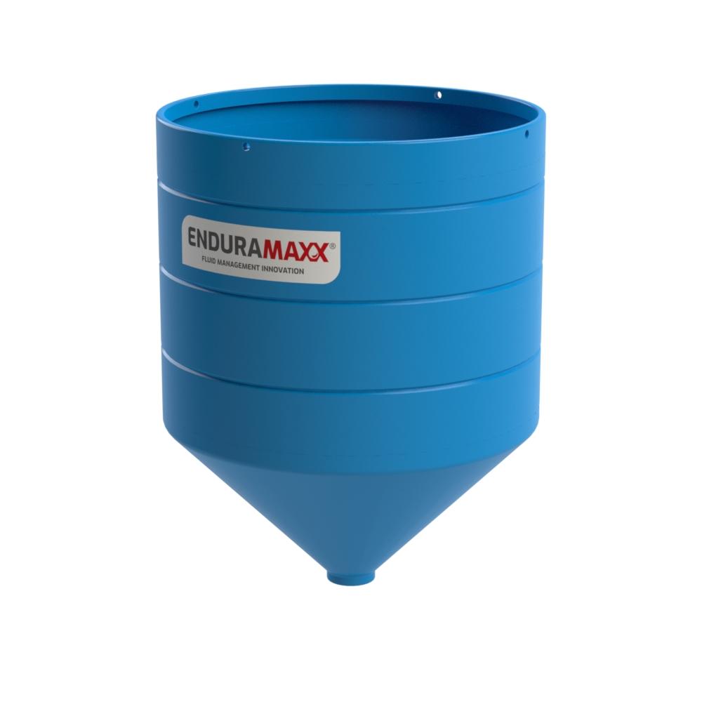 4000 Litre Open Top Cone Tank - 45° Cone Blue