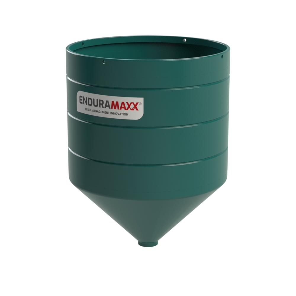 4000 Litre Open Top Cone Tank - 45° Cone Dark Green