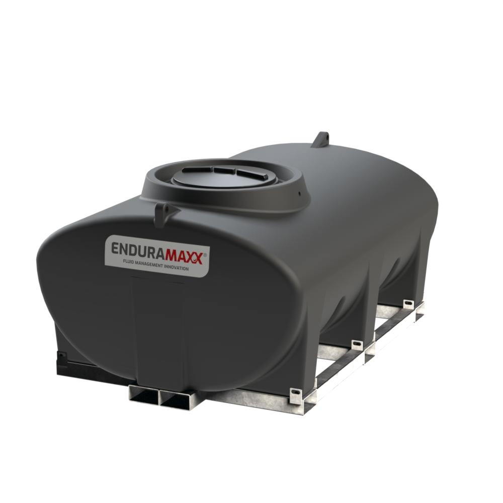 Enduramaxx 171030 3000 litre Horizontal Tank with frame - Black