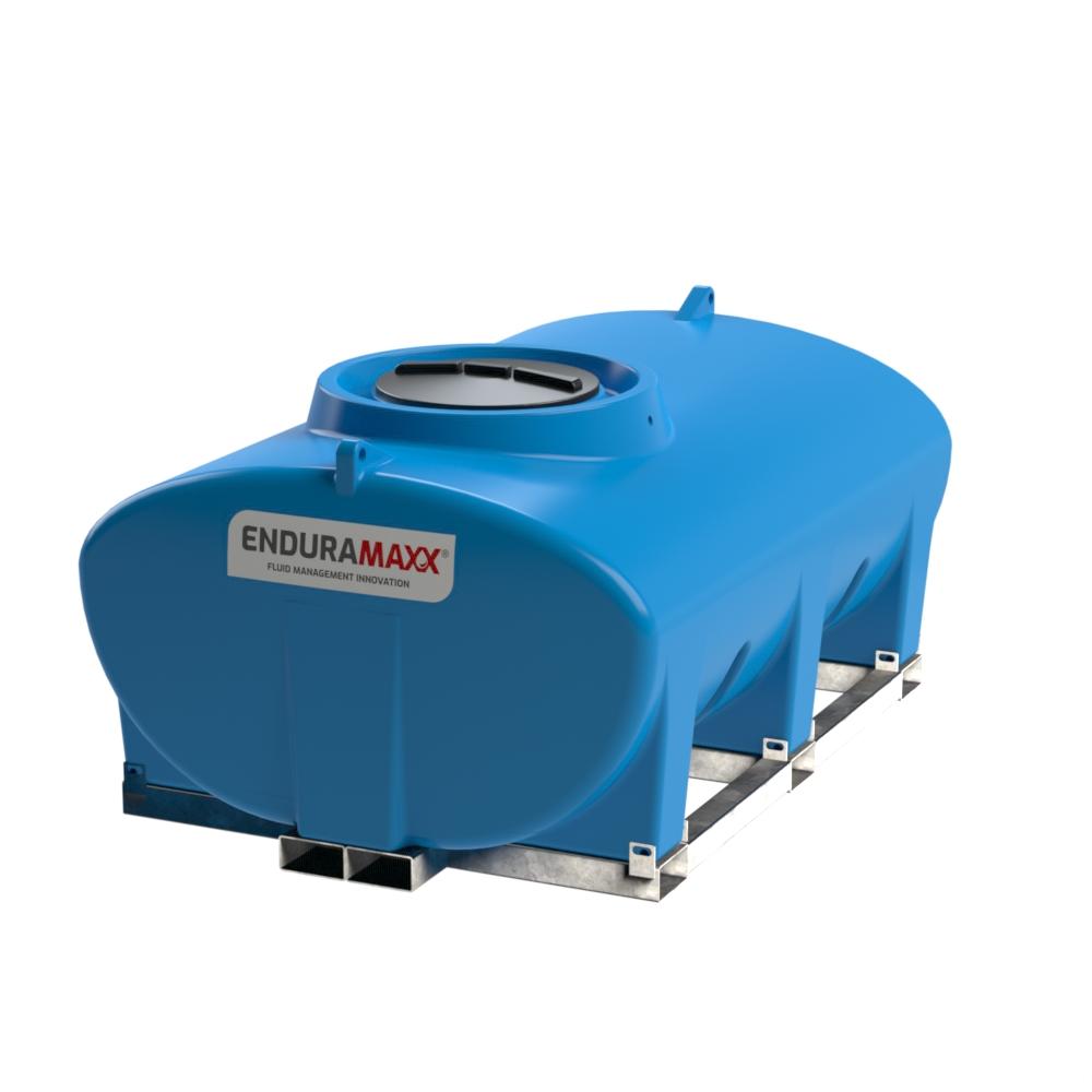 Enduramaxx 171030 3000 litre Horizontal Tank with frame - Blue