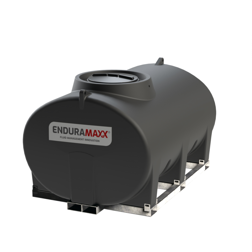 Enduramaxx 171035 4000 litre Horizontal Tank with frame - Black