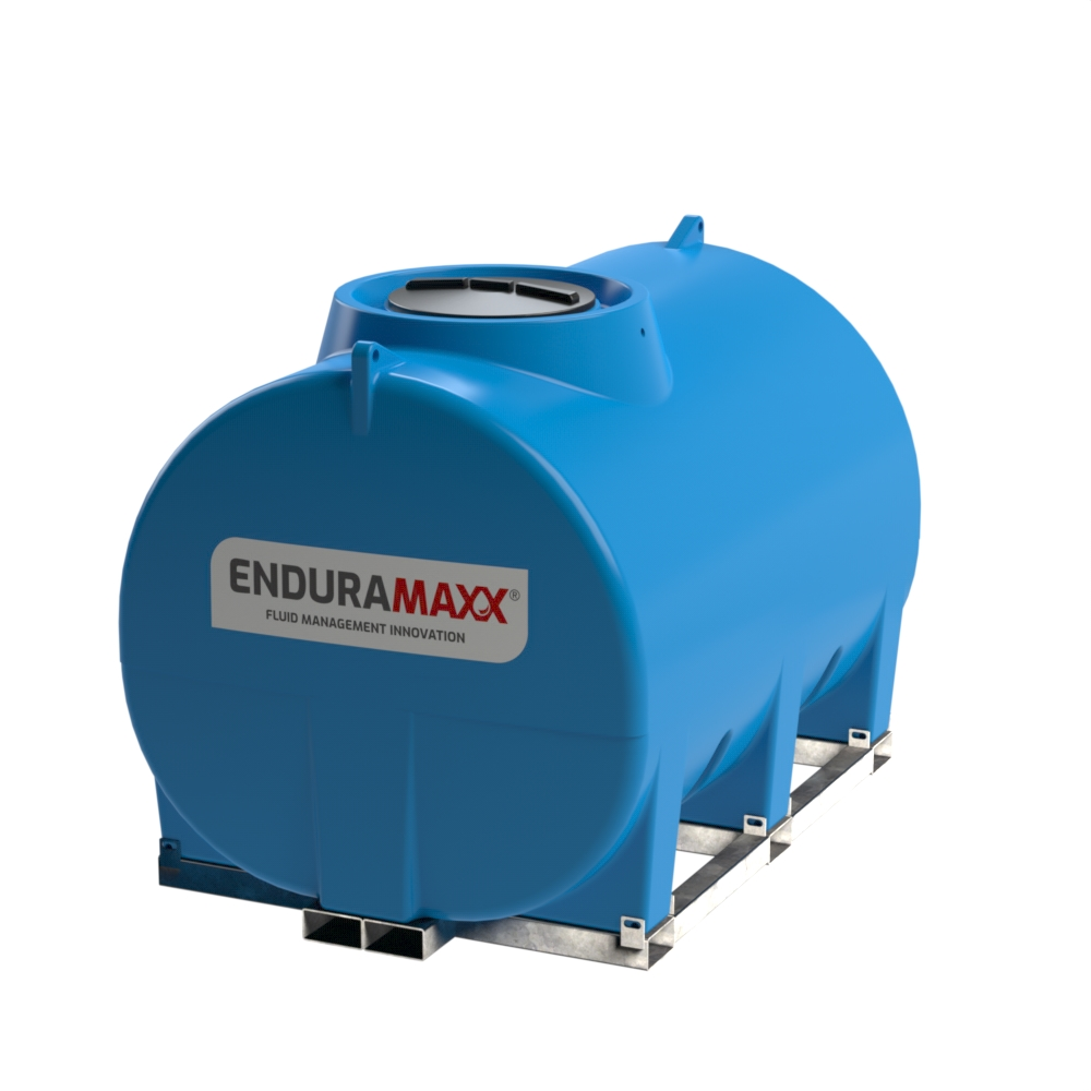 Enduramaxx 171037 5000 litre Horizontal Tank with frame - Blue