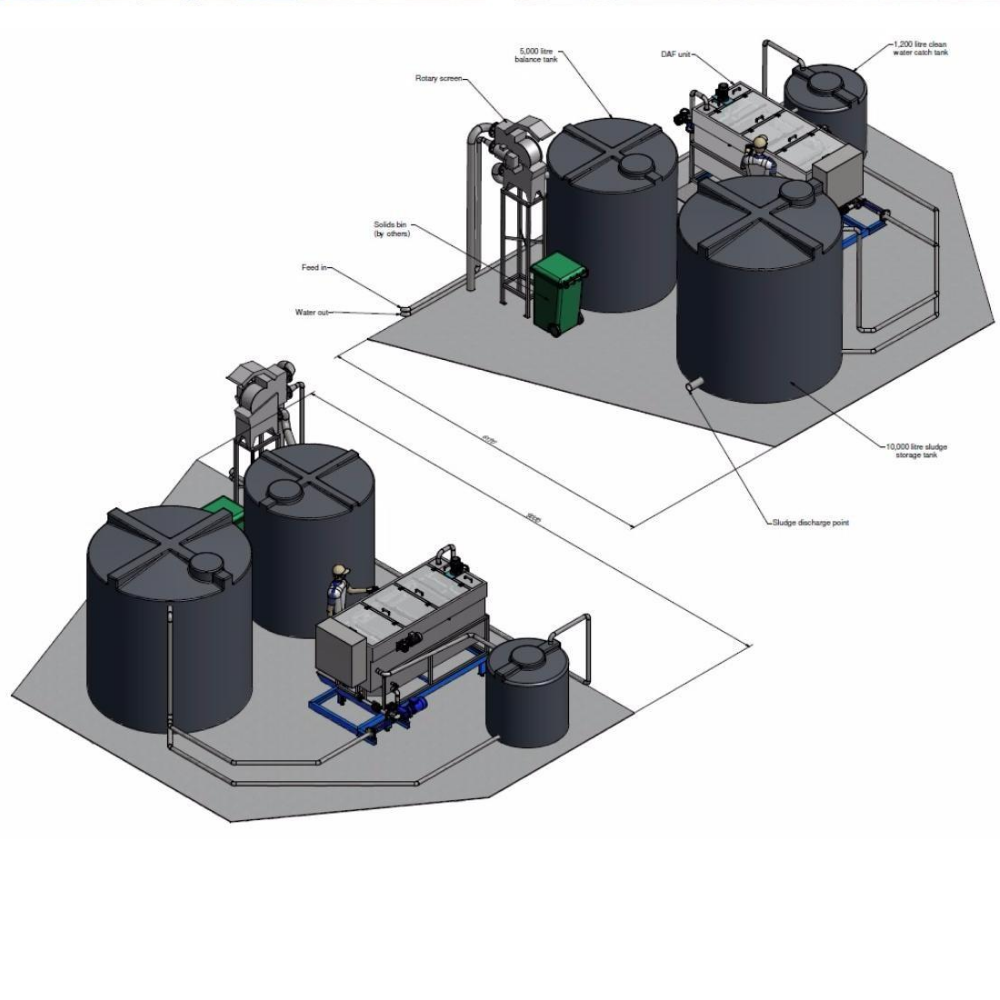 Enduramaxx Flocculation and wastewater treatment tanks