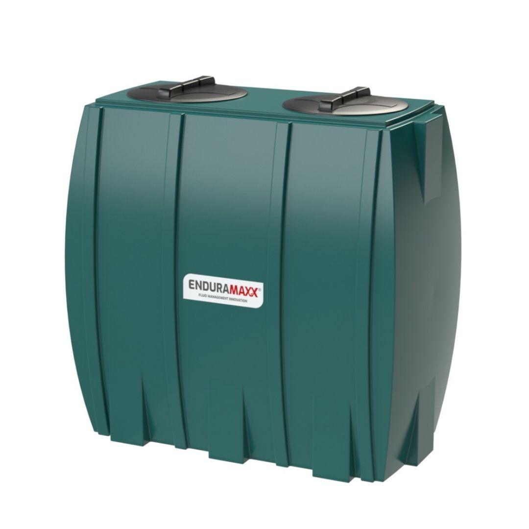 171312 1000 Litre Slimline Rainwater Tank - 2 Lids - Dark Green