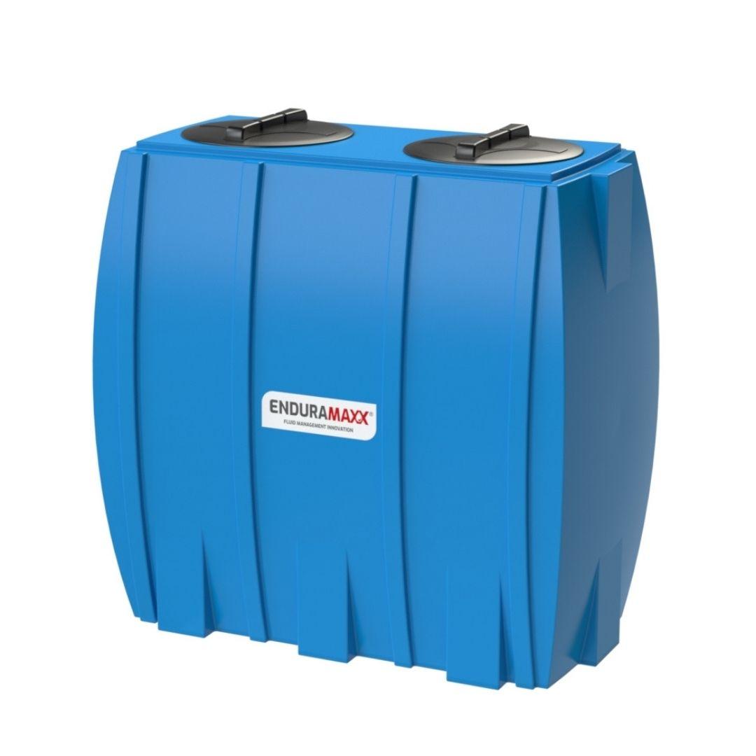 171312 1000 Litre Slimline Rainwater Tank - 2 Lids - blue