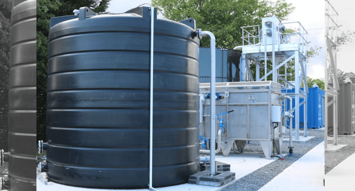Plastic storage tanks for acids, chemicals and process water