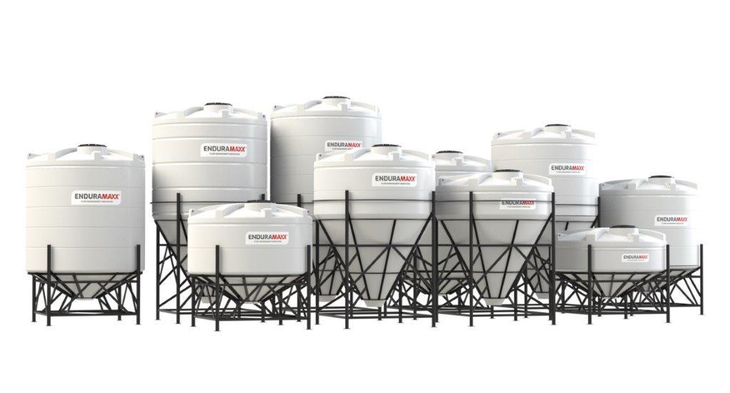 Enduramaxx Plastic Conical Cone Tanks for Draining Ease