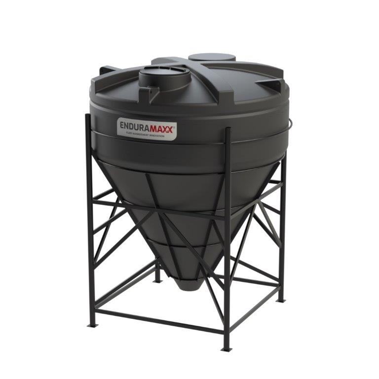 17520466001-F 8000 Litre 60 Degree Cone Tank with Frame Black