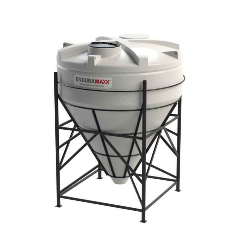 17520466002-F 8000 Litre 60 Degree Cone Tank with Frame Natural