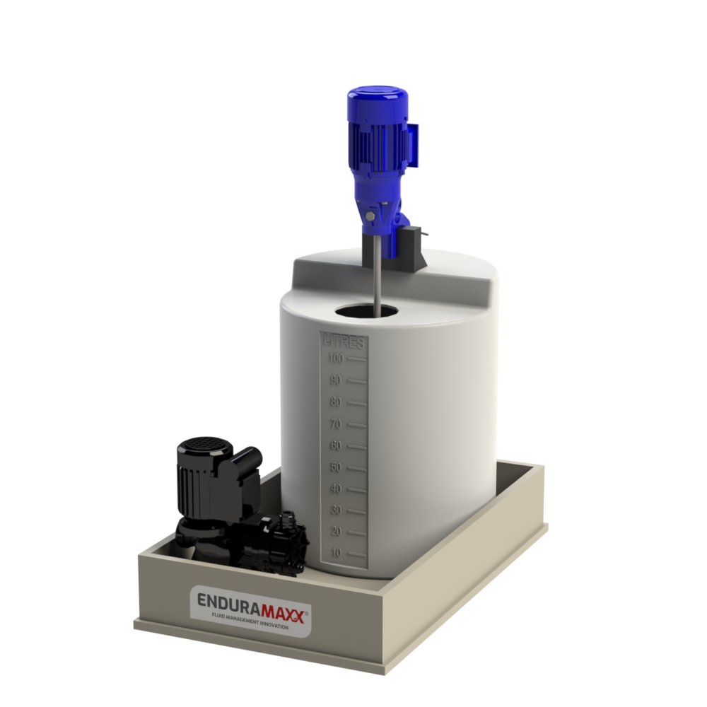 Chemical Mixer Tank With Agitator & Bund