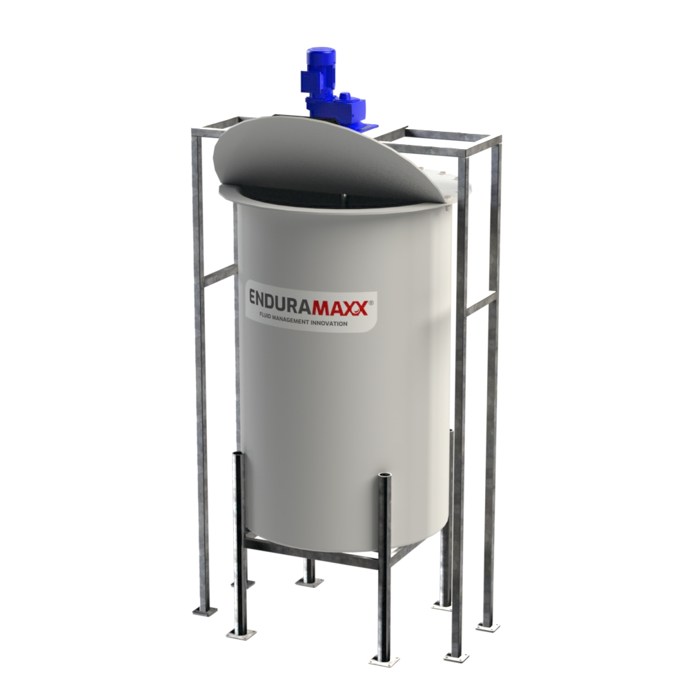 Conical Chemical Mixer Tank With Agitator