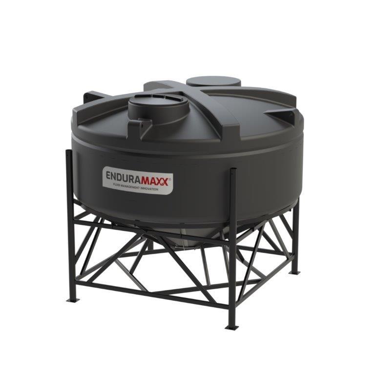 Enduramaxx 1752043001-F 6000 Litre 30 Degree Cone Tank with Frame - Black