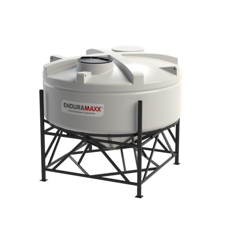 Enduramaxx 1752043002-F 6000 Litre 30 Degree Cone Tank with Frame - Natural