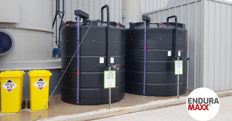 Enduramaxx Chemical tanks for abattoir & slaughterhouse wastewater treatment plants