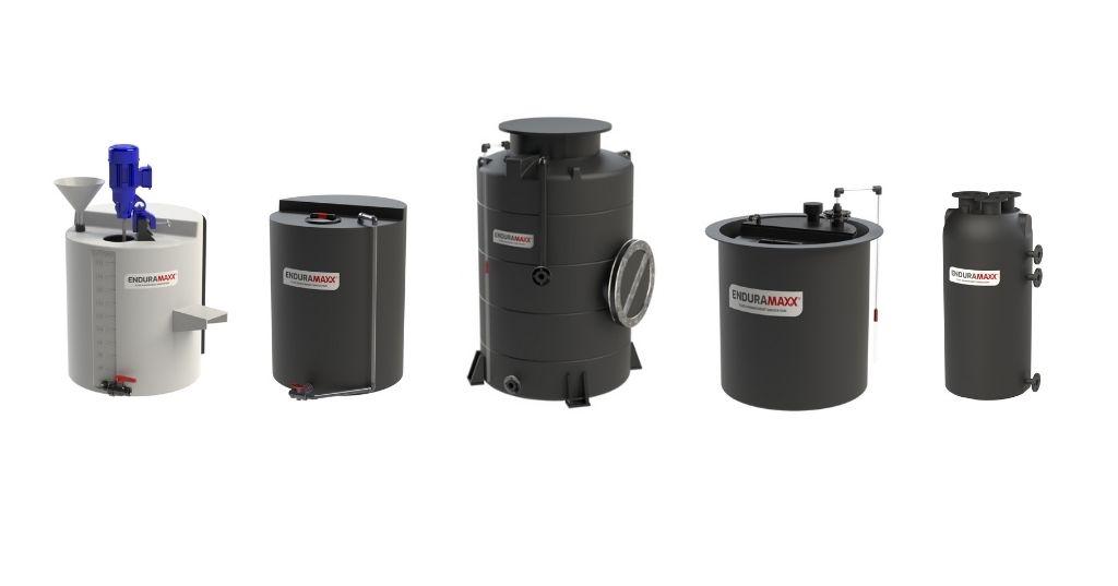 Enduramaxx Customised Plastic Process Reaction Tanks for Reagent Mixing & Treatment