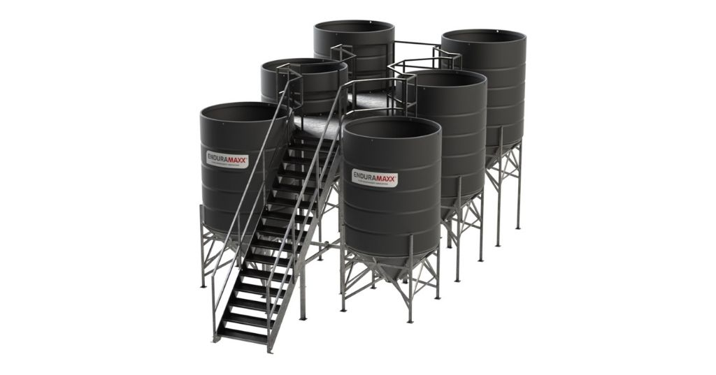 Enduramaxx Iron Removal from Mine Water using Conical Tanks