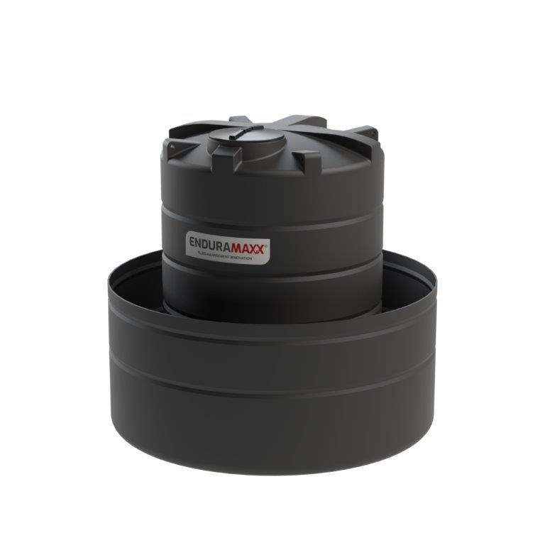 OTB6000 - 6,000 Litre Open Bund Chemical Tank - Black