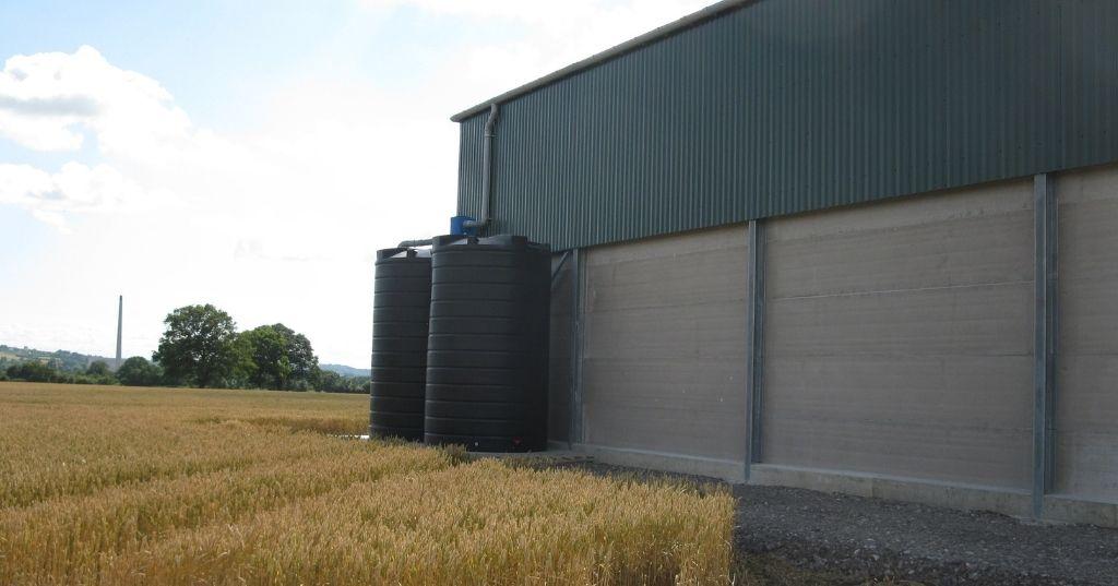 Large plastic tanks for rainwater harvesting