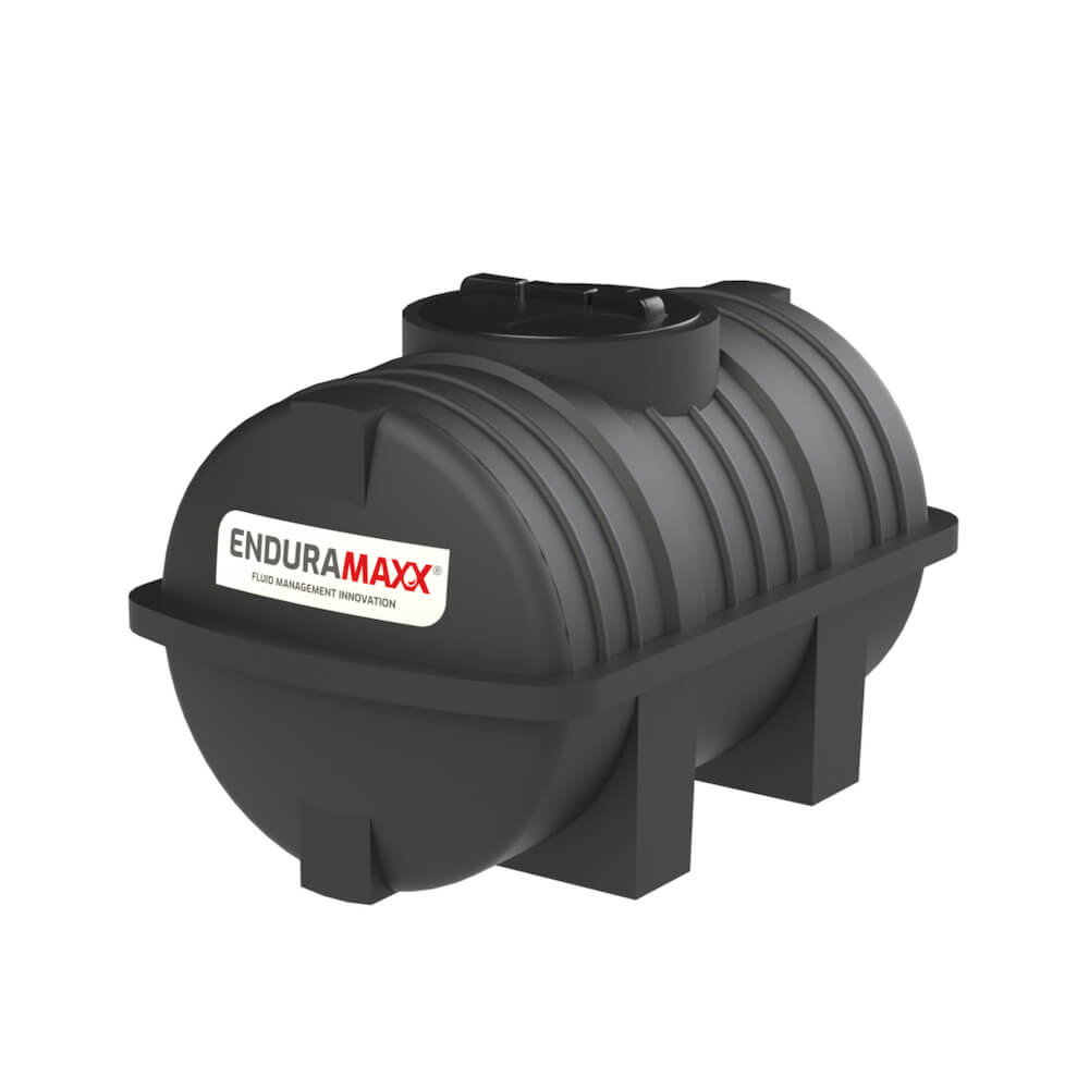 171205 500 Litre Static Horizontal Water Tank Black