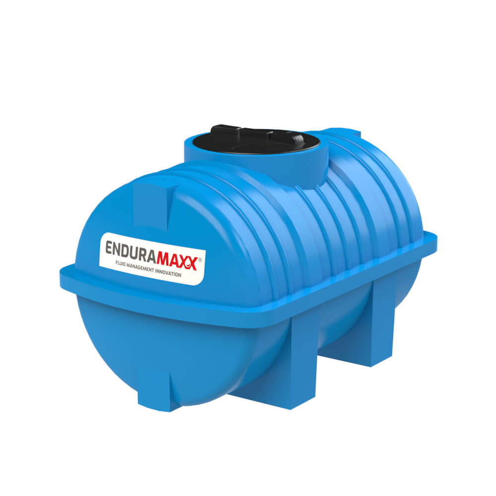 171205 500 Litre Static Horizontal Water Tank Blue