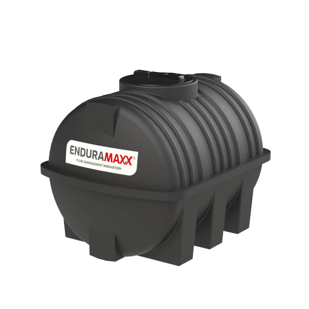 171210 1000 Litre Static Horizontal Water Tank Black