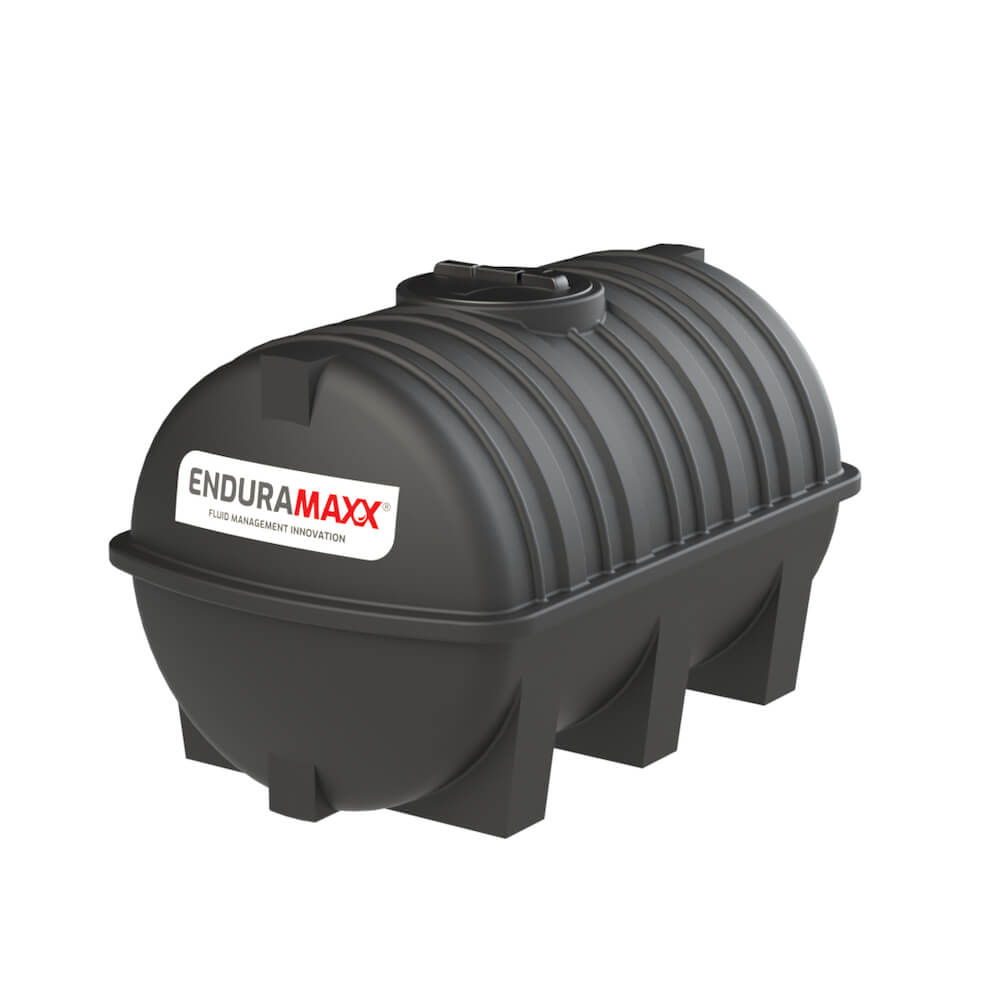 171215 1500 Litre Static Horizontal Water Tank Black