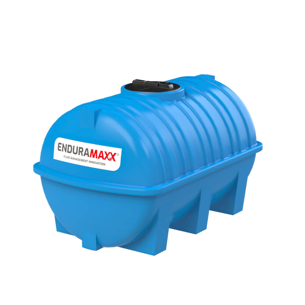171215 1500 Litre Static Horizontal Water Tank Blue