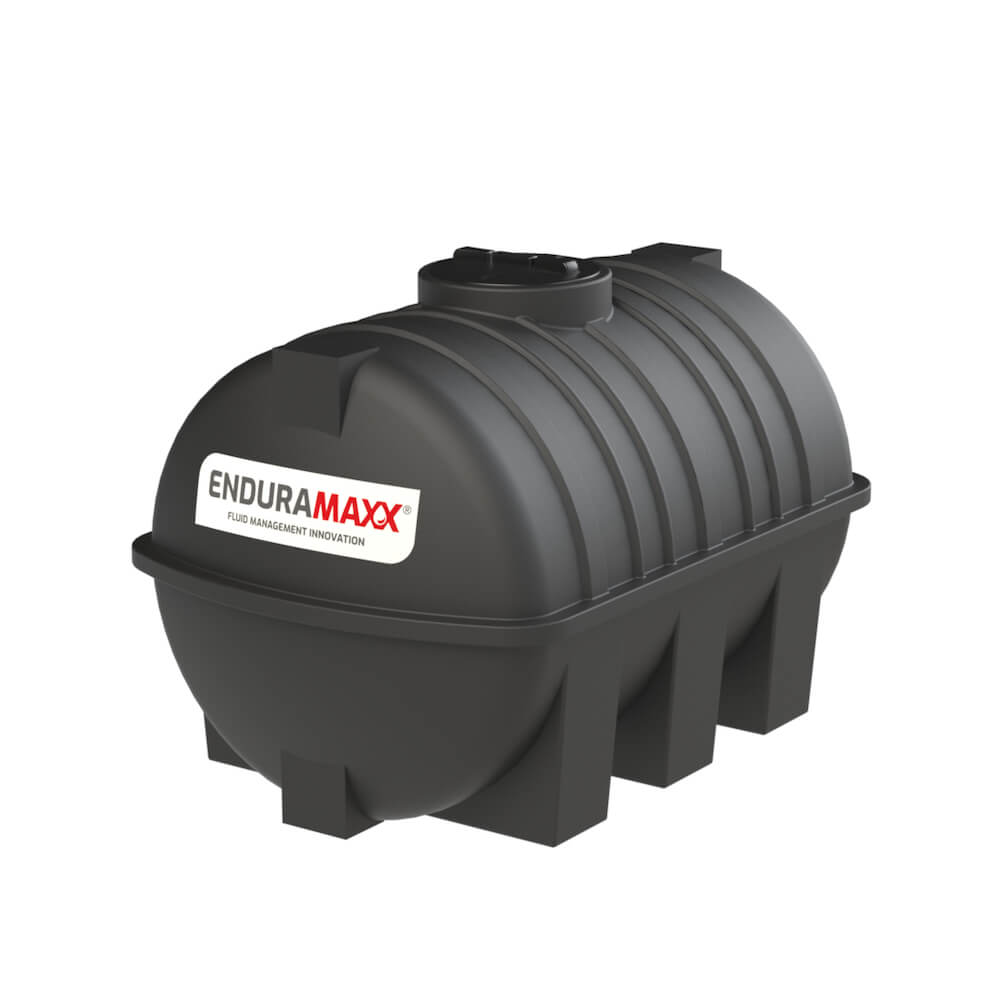 171220 2000 Litre Static Horizontal Water Tank Black