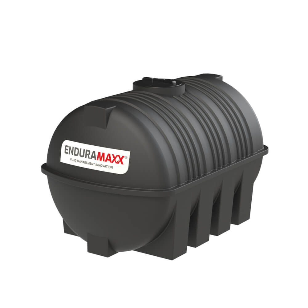 171230 3000 Litre Static Horizontal Water Tank Black
